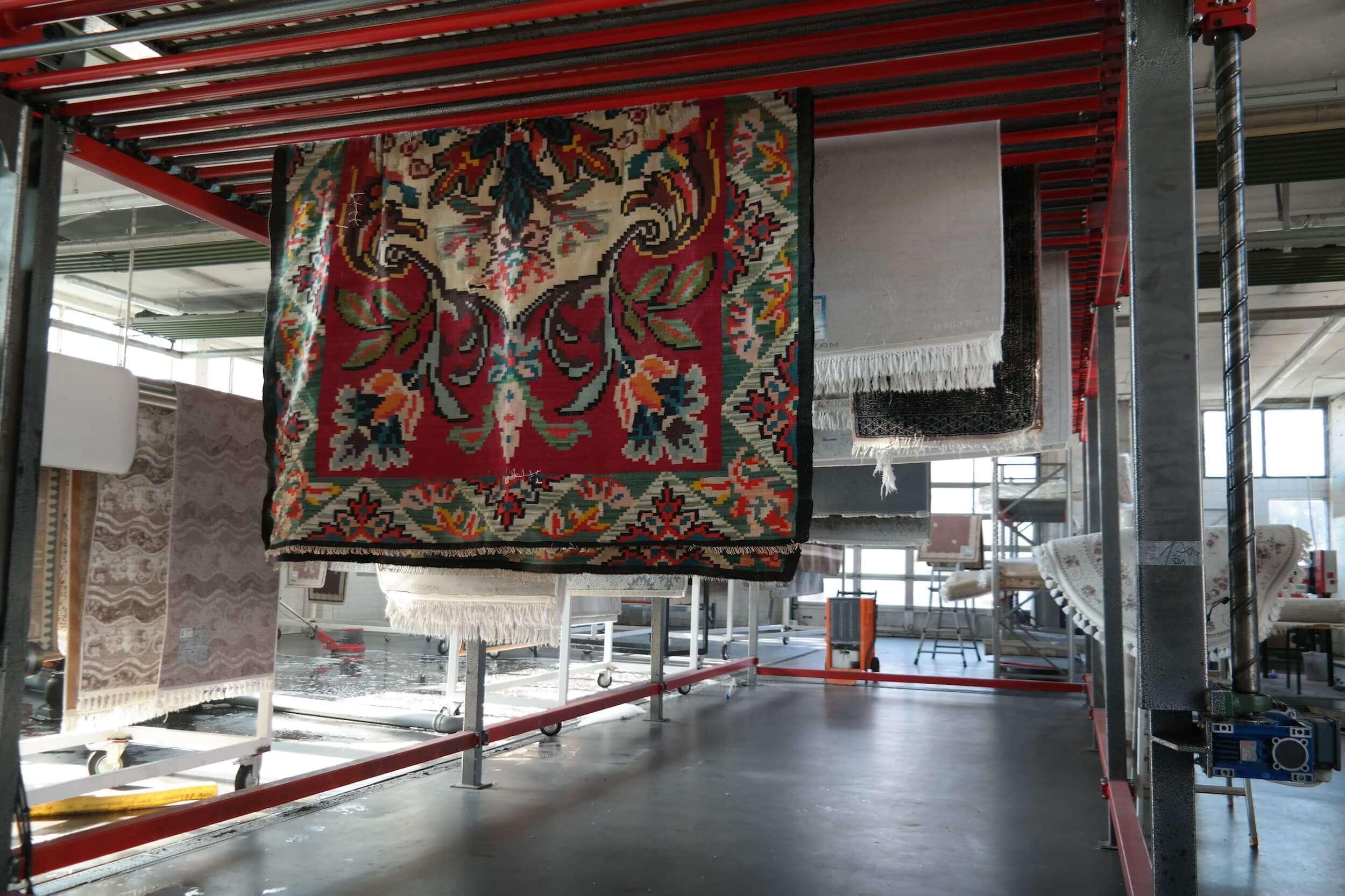 Trocknung von sauberen teppichen